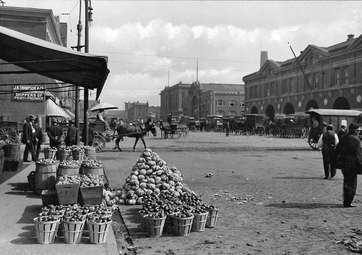 Then and now public markets for Fish market maryland