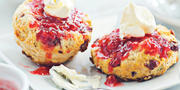 Scones with clotted cream and jam.Photography by Scott Suchman