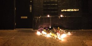 Tribute outside the Ottobar.Photo by Chrissy