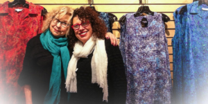 Idy Harris, left, and Anne Liner pose at their clothing boutique The Bead, which closes January 31.Courtesy of The Bead