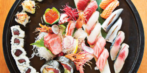A sushi platter from Azumi.Photography by Scott Suchman