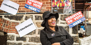 Nykidra Robinson founded Black Girls Vote as a nonpartisan, grassroots political organization.Photography by Christopher Myers