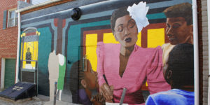 One of five Upper Fells Point murals depicting Lady Day.Photography by Jan Mooney