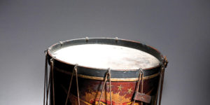This drum was owned by James W. Sank, one of many young drummer boys who marched beside the ranks and often faced the most brutal fire.Maryland Historical Society