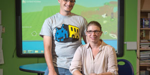 Code in the Schools founders Mike and Gretchen LeGrand.Photography by David Colwell