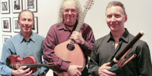 Left to right: Ken Kolodner, Robin Bullock, and Chris Norman make up Helicon, who performs at Goucher College on December 19.Courtesy of Ken Kolodner