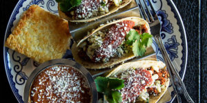 A trio of tacos.Photography by Scott Suchman