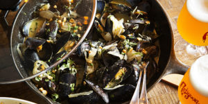 Thai curry mussels and frites.Photography by Scott Suchman