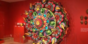 Artist Wendy Brackman created this hypnotic, 10-foot motorized mandala out of painted paper plates. Gabriella Souza