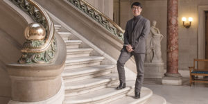 MICA president Sammy Hoi inside the school's historic main building.Photography by David Colwell