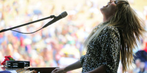 Grace Potter plays All Good Music Festival in 2010.Photography by Sam Friedman