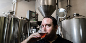 Justin Dvorkin, co-owner of Oliver Brewing Company.Photography by Justin Tsucalas