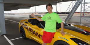 Patrick Rummerfield at the Bondurant School of High Performance Driving in Arizona.Courtesy of Patrick Rummerfield