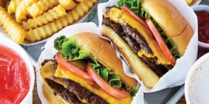Shake Shack's cheeseburgers and crinkle-cut fries.Photography by Scott Suchman