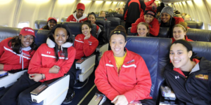 Women's basketball team travels to Spokane, WA, for the Sweet 16. Courtesy of University of Maryland