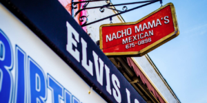 The exterior of Nacho Mama's on O'Donnell Square in Canton.Courtesy of Nacho Mama's