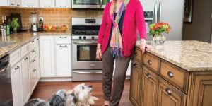 Virginia Byrnes and her canine cuties.Photography by Christopher Myers