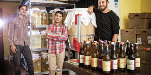 Left to right: Sergio Malarin, Sidharth Sharma, and Adam Bufano are the owners behind Wild Kombucha.Photography by Christopher Myers