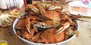 Steamed crabs at Hard Yacht CafeCourtesy of Rachel Drachman