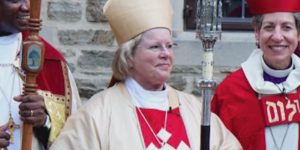 Heather Cook, center, has been defrocked by the Episcopal Church.Photograph courtesy of WBAL