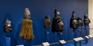 A display of African masks allows visitors to see them from all sides.Courtesy of Baltimore Museum of Art