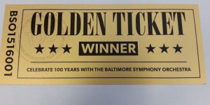 These tickets, scattered throughout Baltimore, Montgomery County and Washington, D.C., entitle you to 10 tickets to a 2015-16 BSO concert.Courtesy of Baltimore Symphony Orchestra