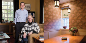 Julia Marciari-Alexander and her husband, John Marciari, chose the home its classic design; Touches like the Stickley-inspired table in the breakfast nook and the William Morris wallpaper are reminders of Marciari-Alexander's parents' home.Photography by Mitro Hood