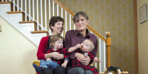 The writer with his wife, Betsy Boyd, and his sons Tex and Miner.Photography by Christopher Myers
