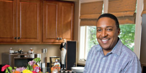 Tim Williams likes to cook up a storm in his Owings Mills kitchen.Photography by Mitro Hood