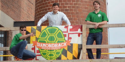 From left: Colin Marshall, Francis Smith, and Tom Foster of Diamondback Brewing Company.Courtesy of Diamondback Brewing Company