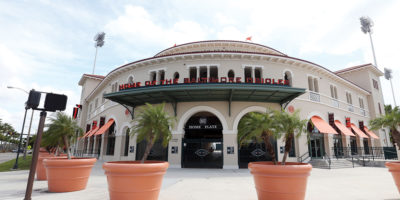 Ed Smith Stadium in all its sunny, Gulf Coast glory.Courtesy of Todd Olszewski/Baltimore Orioles