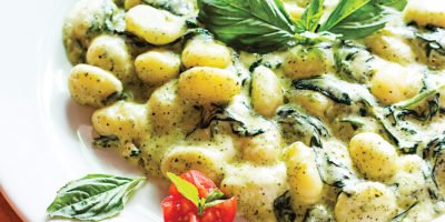 The gnocchi in pesto-cream sauce.Photography by Scott Suchman