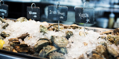 The raw bar at Loch Bar.Photography by Scott Suchman