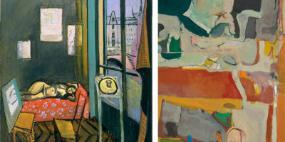 Matisse's Studio, Quai Saint-Michel (1916); right, Diebenkorn's Urbana #4 (1953)Courtesy of the Baltimore Museum of Art