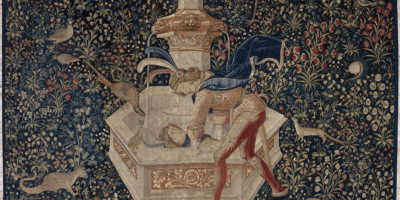 Tapestry with Narcissus at the fountain from 16th-century is a feast for the eyes.Courtesy of The Walters Art Museum