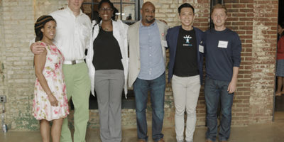 Left to right: Angel Rich (The Wealth Factory), Jared Marmen (Barttron), Charlene Brown (Reciprocare), Trevor Brooks (Gunbail), Eric Niu (Swaggle); Alex Bullington (Arbit)Zephan Blaxburg
