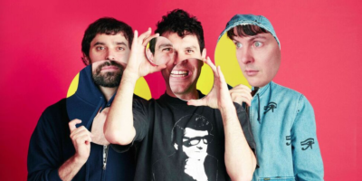 Left to right: Brian Weitz, David Portner, and Noah Lennox of Animal Collective.Photography by Tom Andrew
