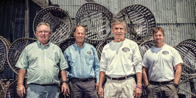 From left: Jack, Joe, Bill, and Clay Brooks of J.M. Clayton Seafood Company. Photography by Christopher Myers