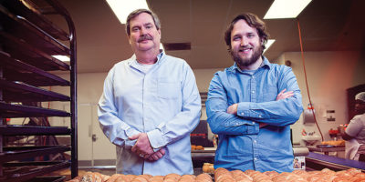 Owner Mark Otterbein with his son, Ben, at the factory in Windsor Mill.Photography by Christopher Myers