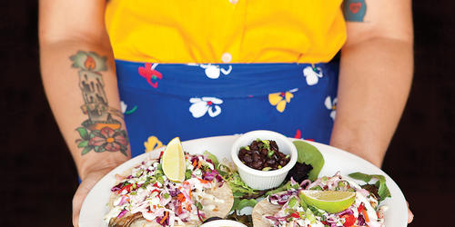 Try The Yummy Tilapia Tacos At Golden West Cafe.Photography by Ryan Lavine