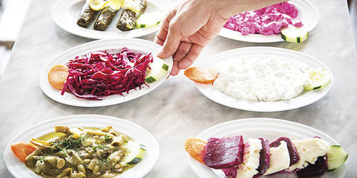Mezze plates at Mare Nostrum.Photography by Scott Suchman