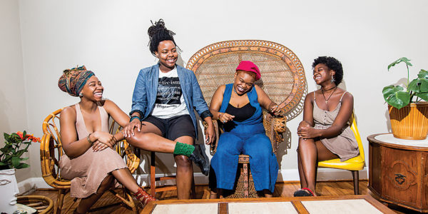 From left: Khadija Nia Adell, Jessica Hyman, Jenné Afiya, and Stephanie Wallace.Photography by Justin Tsucalas