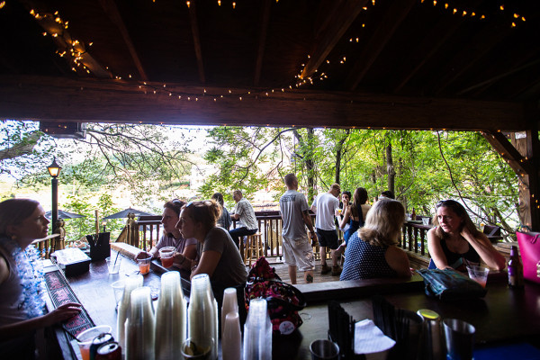 The outdoor deck at Cacao Lane.Photography by Scott Suchman