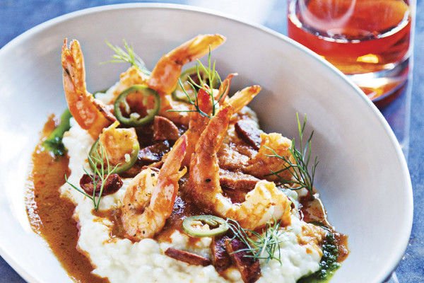 Shrimp and grits.Photography by Scott Suchman