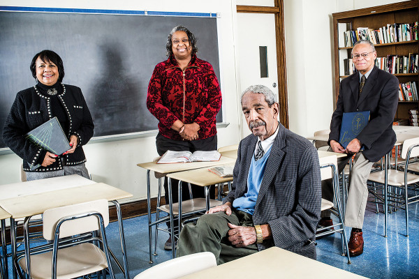 From left to right: Carolyn Holland Cole, Edna Jackson Greer, Keiffer Mitchell Sr., and Milton Cornish. Photo by Justin Tsucalas