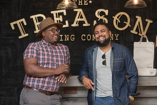 Aaron Jones, left, and Jason Bass of Treason Toting Co.Photography by David Colwell