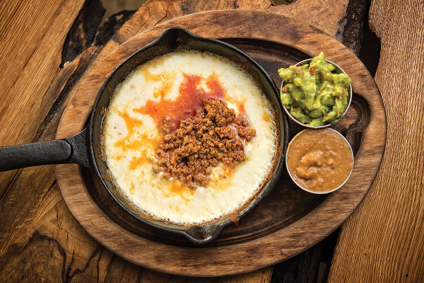 A sizzling skillet of queso fundidoPhotography by Christopher Myers