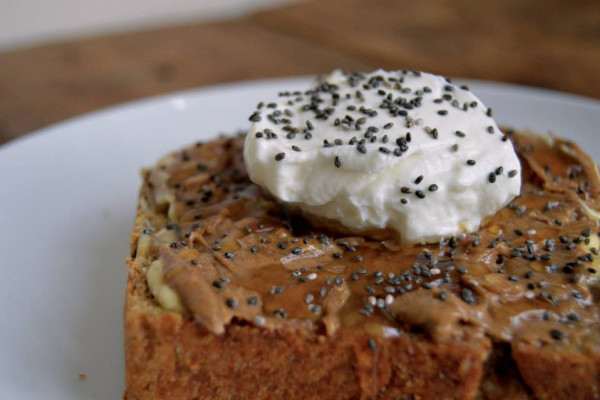 Toast with almond butter, honey, Greek yogurt, and chia seeds at the new Ceremony Coffee Roasters in Mt. Vernon.Courtesy of Ceremony Coffee Roasters