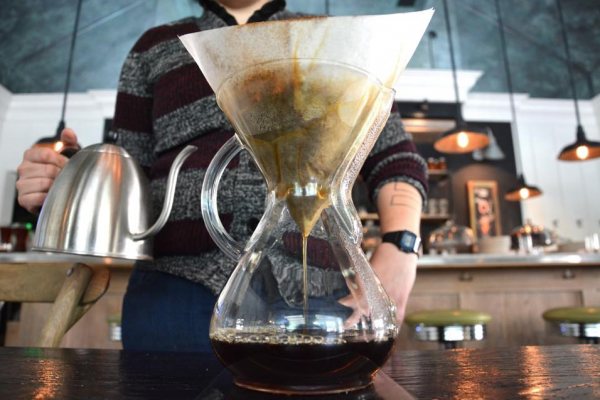A Chemex coffeemaker, which is used at Johnny's, Spro, and Artifact.Courtesy of Johnny's