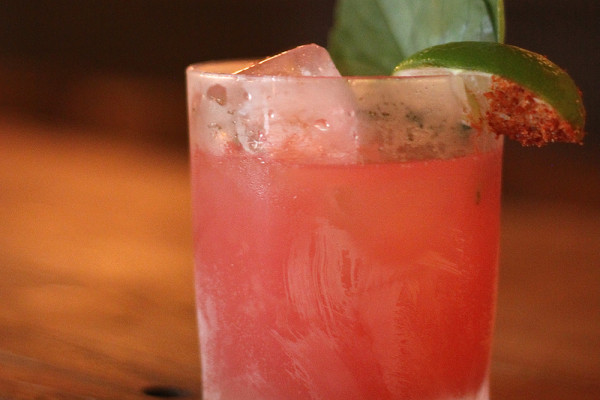 The Santa Sandia cocktail, made with mezcal and watermelon, at Clavel.Courtesy of Clavel